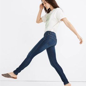 Madewell Mid-Rise Skinny Jeans in Dark Wash